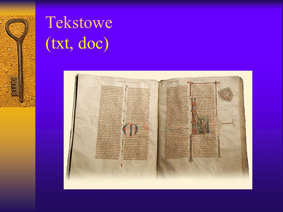 Tekstowe (txt, doc)