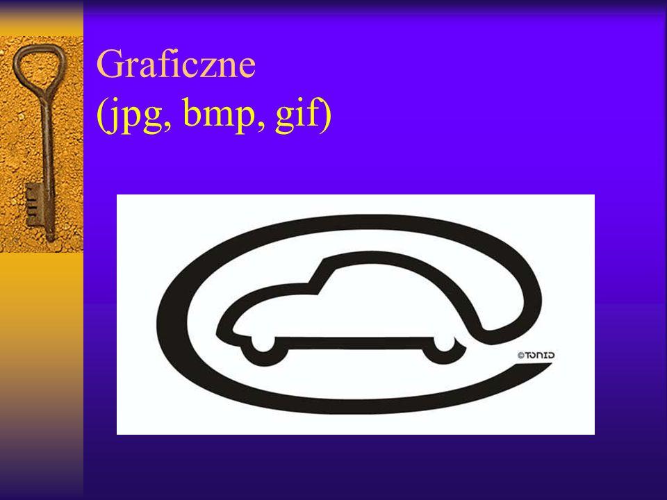 Graficzne (jpg, bmp, gif)