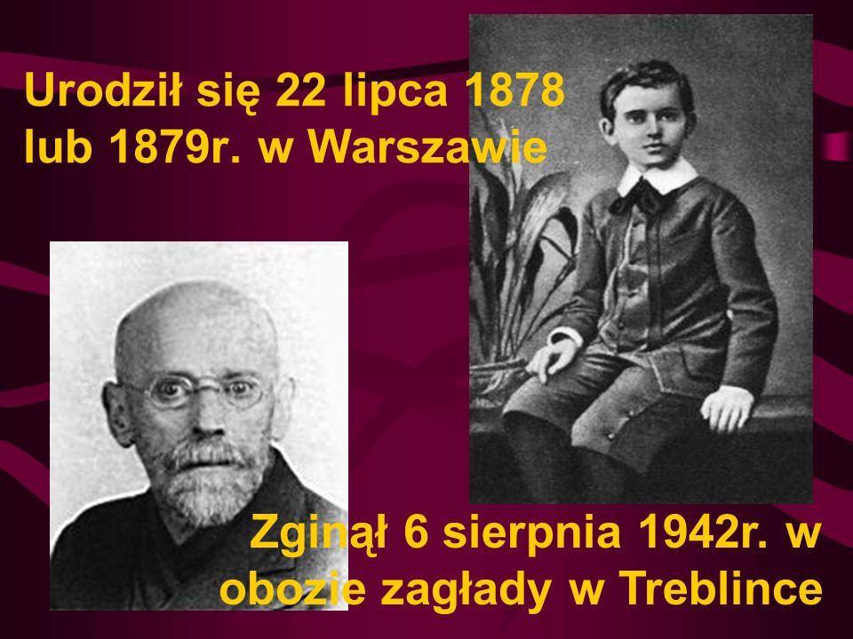 Urodził się 22 lipca 1878 lub 1879r. w Warszawie Zginął 6 sierpnia 1942r. w obozie zagłady w Treblince