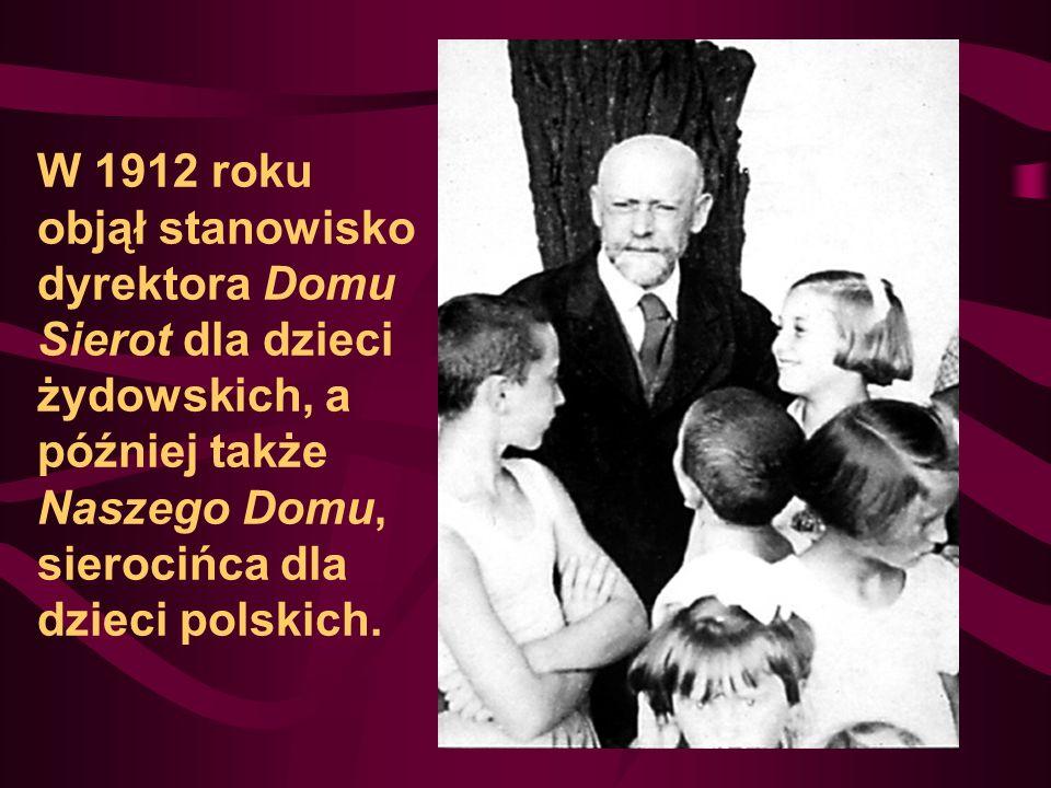 W 1912 roku objął stanowisko dyrektora Domu Sierot dla dzieci żydowskich, a później także Naszego Domu, sierocińca dla dzieci polskich.