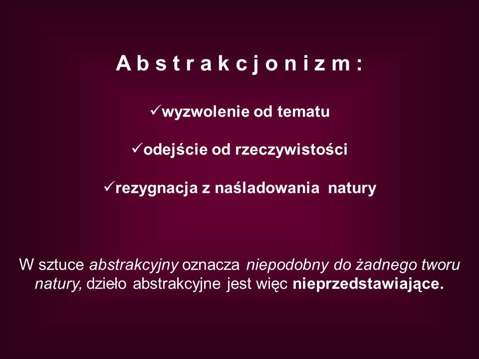 Różne okręgi Kandinskiego, po prawej stronie prace uczennicy gimnazjum Agaty Drewniak.
