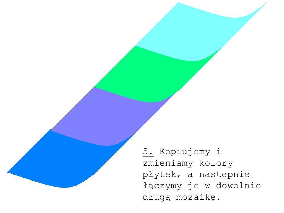 5. Kopiujemy i zmieniamy kolory płytek, a następnie łączymy je w dowolnie długą mozaikę.