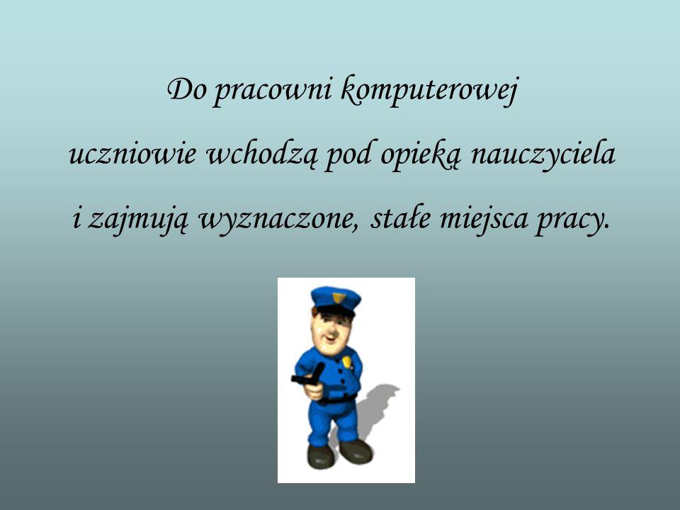 Przedstawiam prezentację, która zawiera reguły i zasady, jakimi powinien się kierować każdy użytkownik pracowni komputerowej. Iwona Kisielowska i Ewa