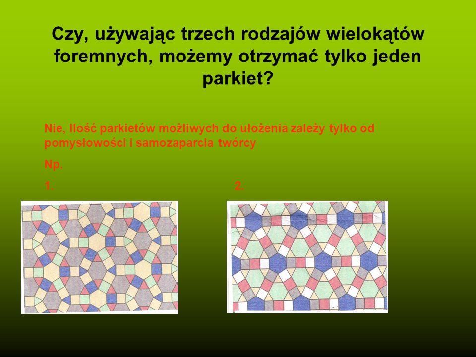 Projektowanie parkietaży z trzech rodzajów wielokątów foremnych o tym samym boku