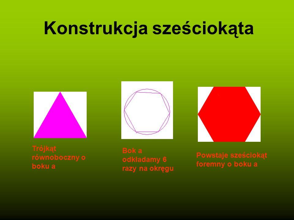 Konstrukcja kwadratu Rysujemy prostą o długości boku trójkąta Kopiujemy ją i obracamy o 90 stopni Z drugim bokiem postępujemy analogicznie Otrzymujemy