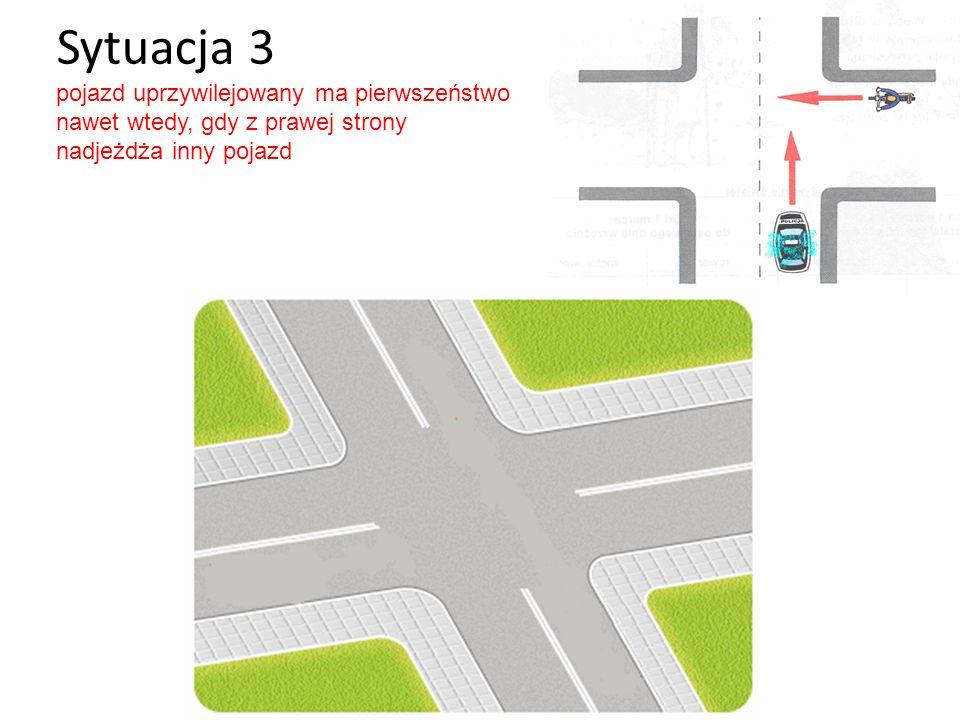 Sytuacja 4 ustępujemy pierwszeństwa pojazdowi szynowemu niezależnie od tego, z której strony nadjeżdża i w którym kierunku jedzie