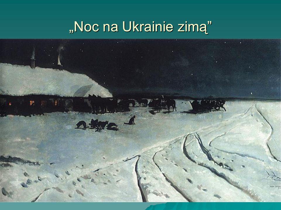 Noc na Ukrainie zimą