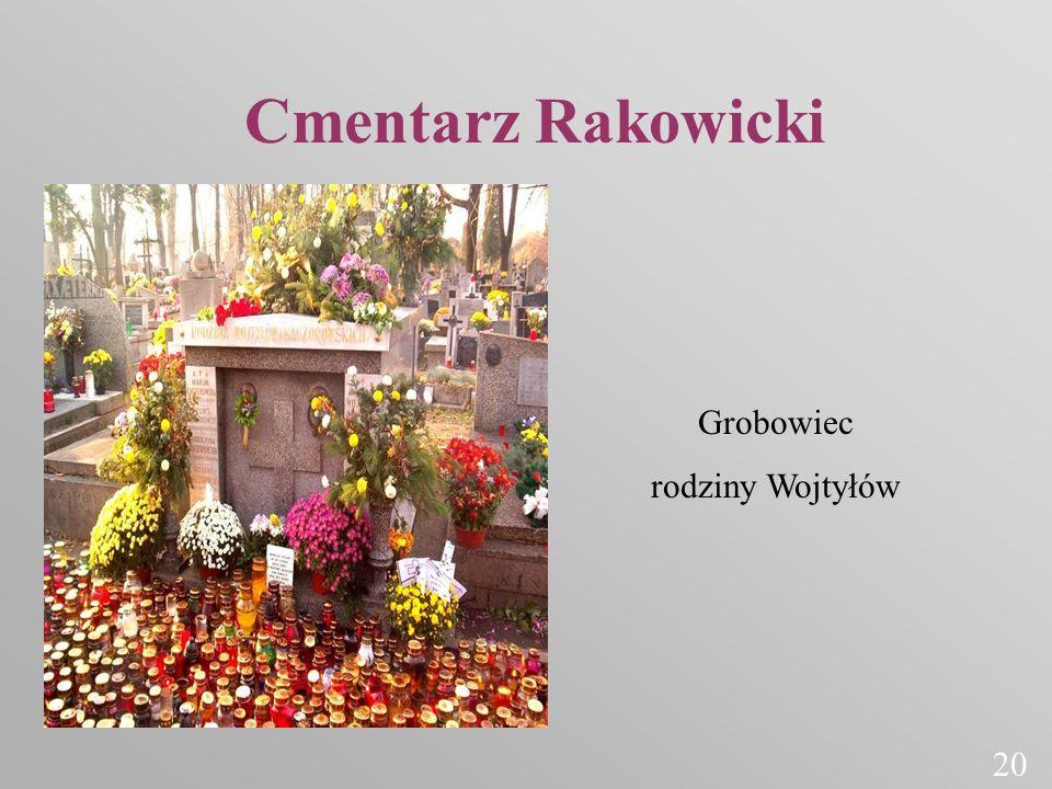 Cmentarz Rakowicki Grobowiec rodziny Wojtyłów 20