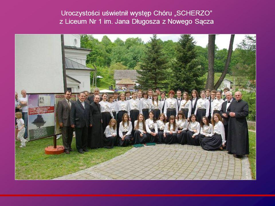 Uroczystości uświetnił występ Chóru SCHERZO z Liceum Nr 1 im. Jana Długosza z Nowego Sącza