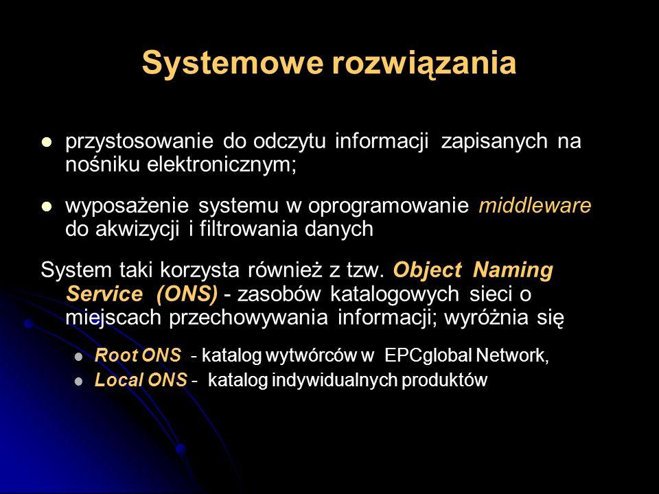Systemowe rozwiązania przystosowanie do odczytu informacji zapisanych na nośniku elektronicznym; wyposażenie systemu w oprogramowanie middleware do ak