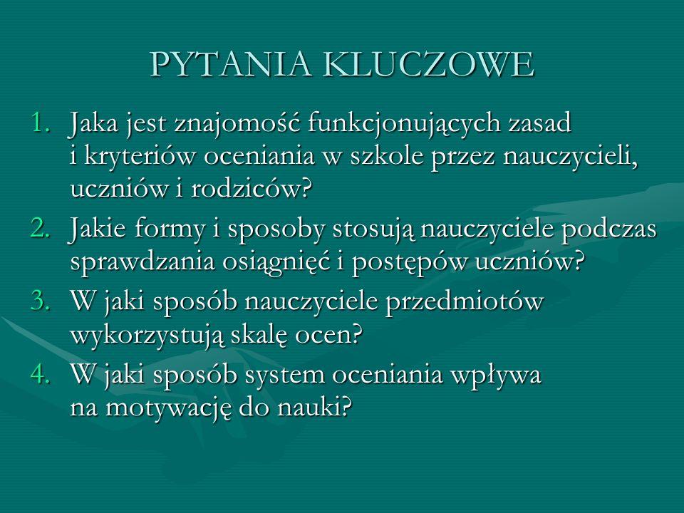 WARUNKI I METODY ZBIERANIA DANYCH Miejsce: szkoła Czas: I – III 2011r.
