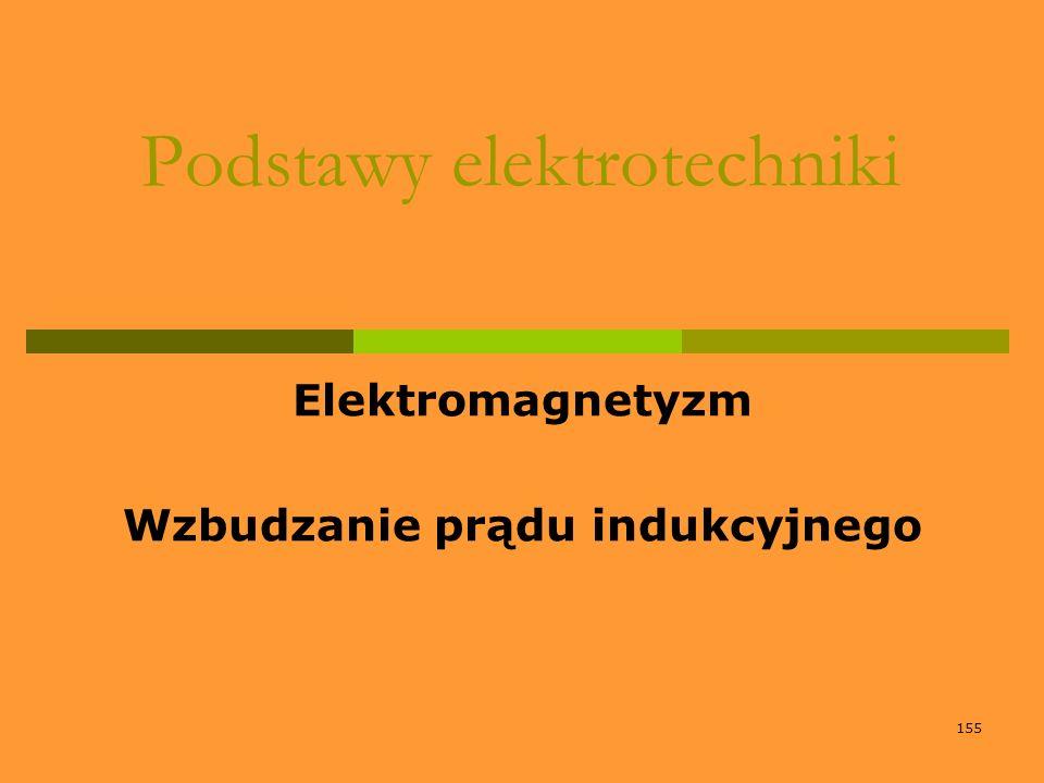 155 Podstawy elektrotechniki Elektromagnetyzm Wzbudzanie prądu indukcyjnego