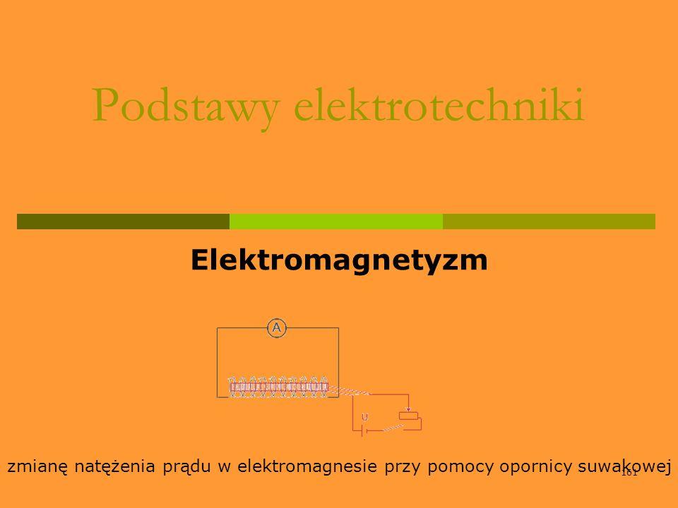 161 Podstawy elektrotechniki Elektromagnetyzm zmianę natężenia prądu w elektromagnesie przy pomocy opornicy suwakowej