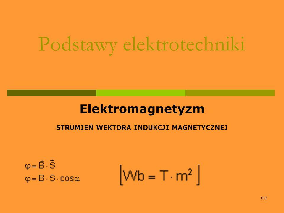 162 Podstawy elektrotechniki Elektromagnetyzm STRUMIEŃ WEKTORA INDUKCJI MAGNETYCZNEJ