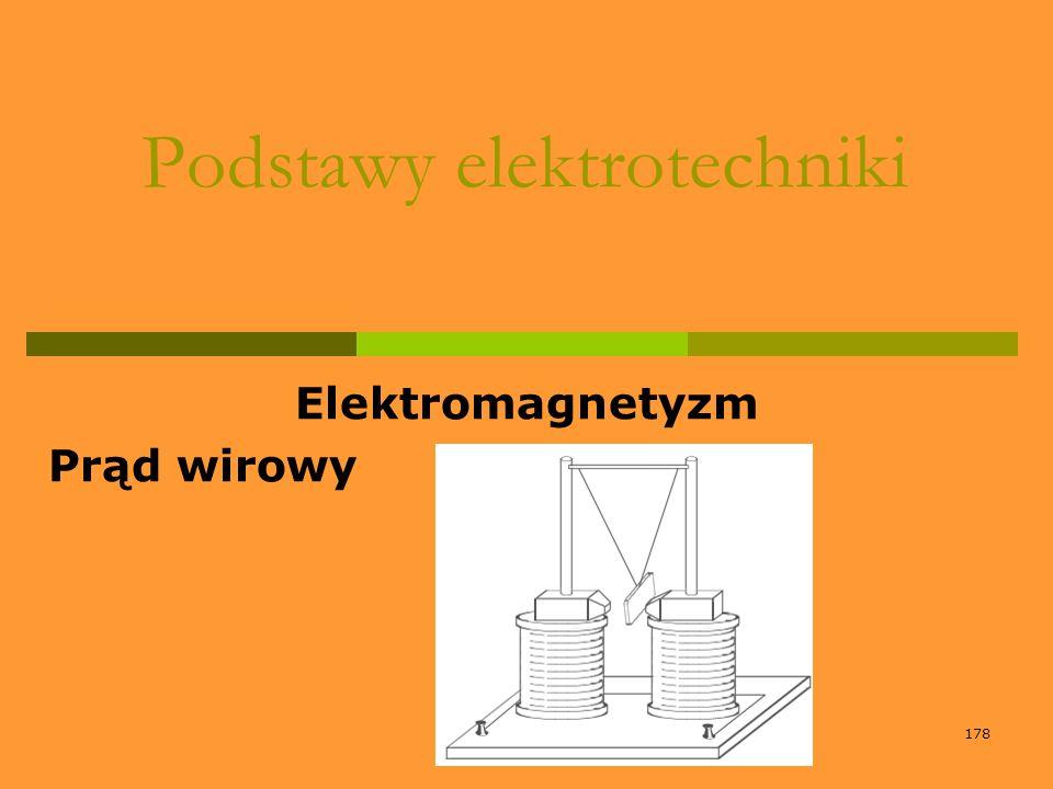 178 Podstawy elektrotechniki Elektromagnetyzm Prąd wirowy