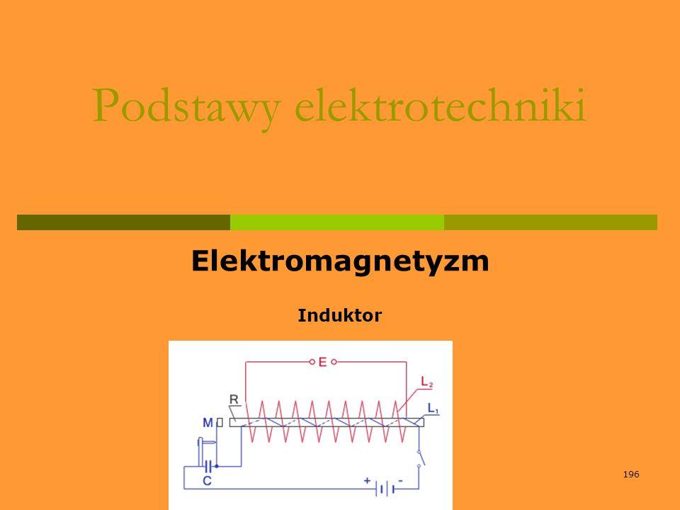 196 Podstawy elektrotechniki Elektromagnetyzm Induktor