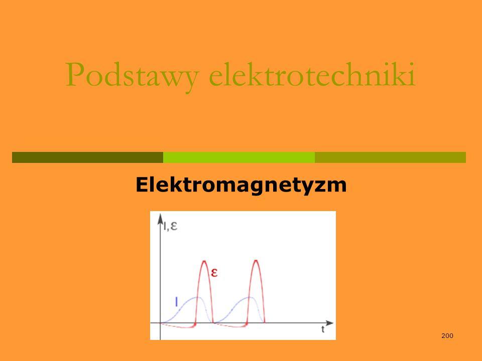 200 Podstawy elektrotechniki Elektromagnetyzm