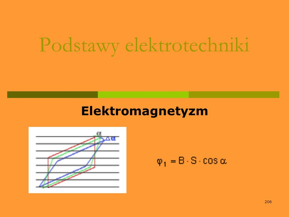 206 Podstawy elektrotechniki Elektromagnetyzm
