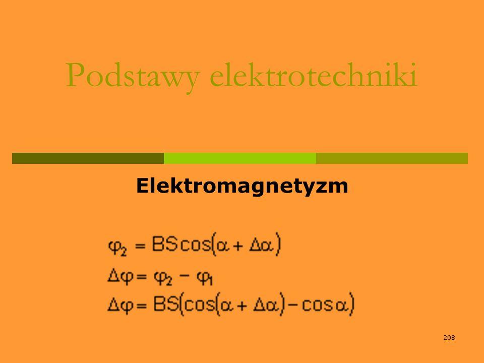 208 Podstawy elektrotechniki Elektromagnetyzm