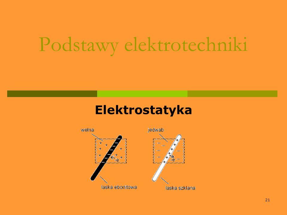 21 Podstawy elektrotechniki Elektrostatyka
