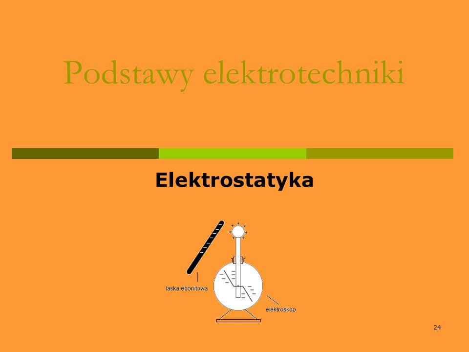 24 Podstawy elektrotechniki Elektrostatyka