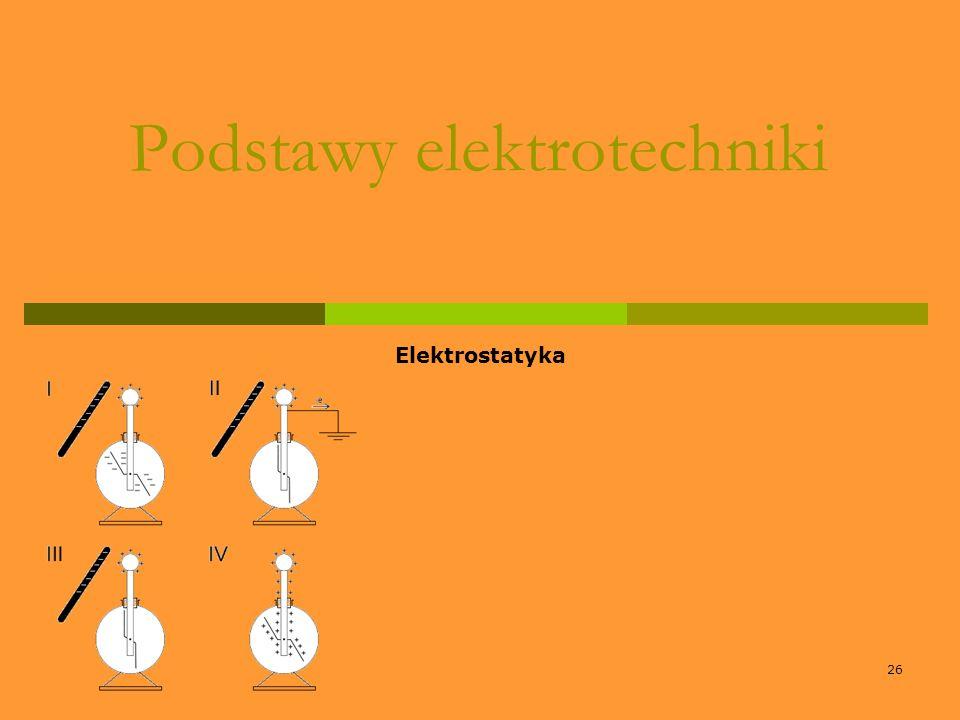 26 Podstawy elektrotechniki Elektrostatyka