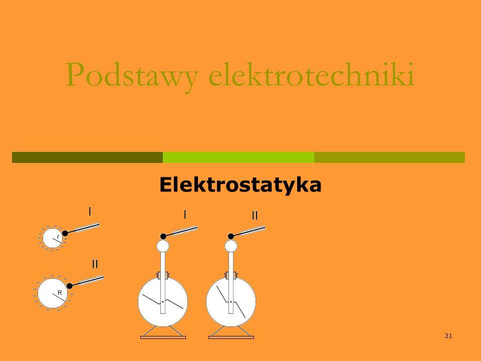31 Podstawy elektrotechniki Elektrostatyka