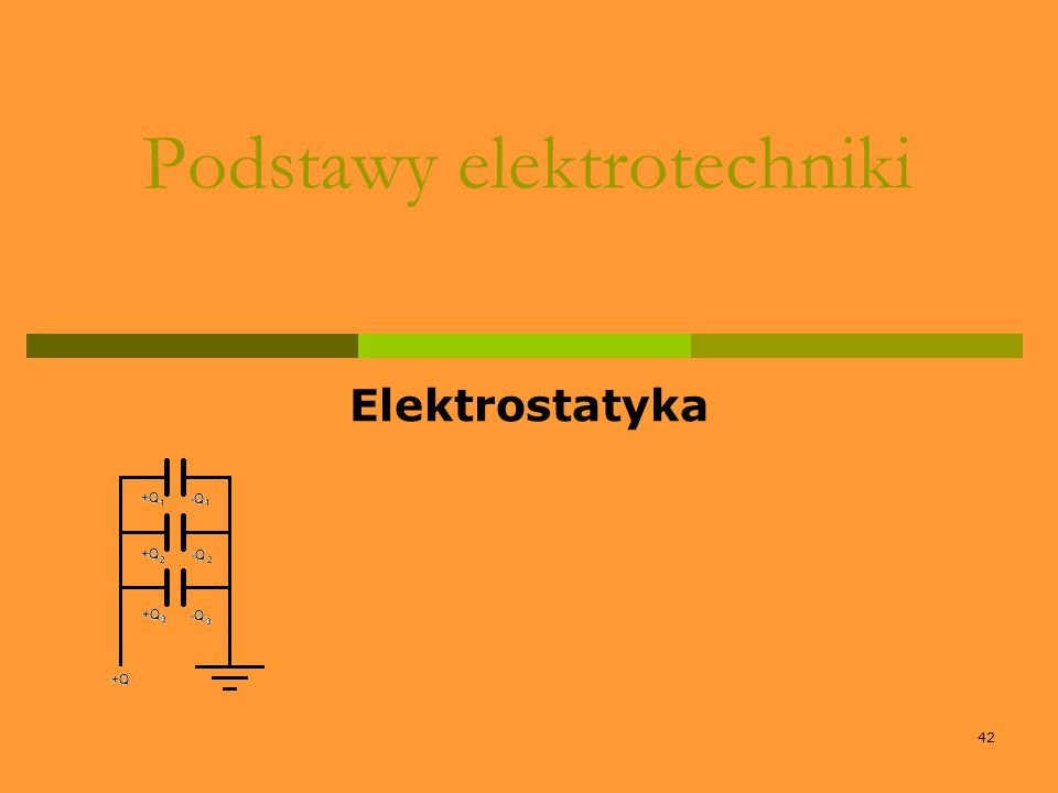 42 Podstawy elektrotechniki Elektrostatyka