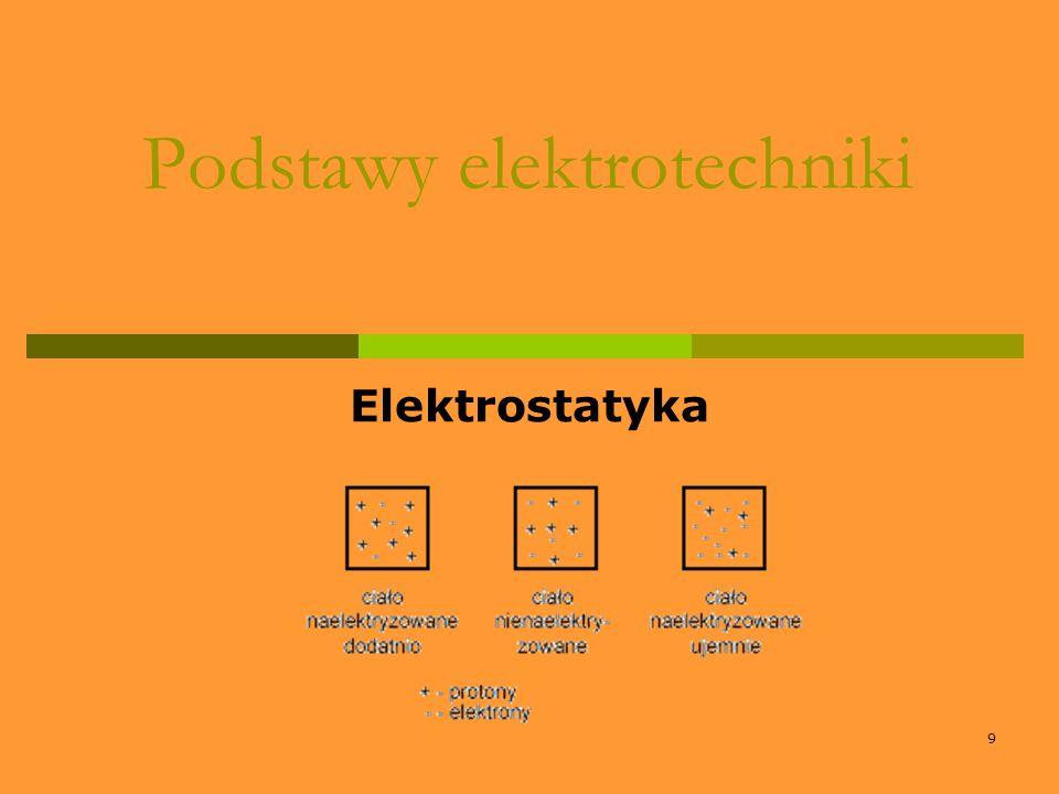 9 Podstawy elektrotechniki Elektrostatyka