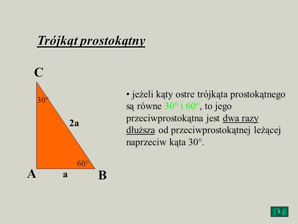 Trójkąt równoboczny wysokości dzielą każdy bok trójkąta na połowy, oraz każdy kąt wewnętrzny na dwa kąty o równych miarach wszystkie trzy wysokości są