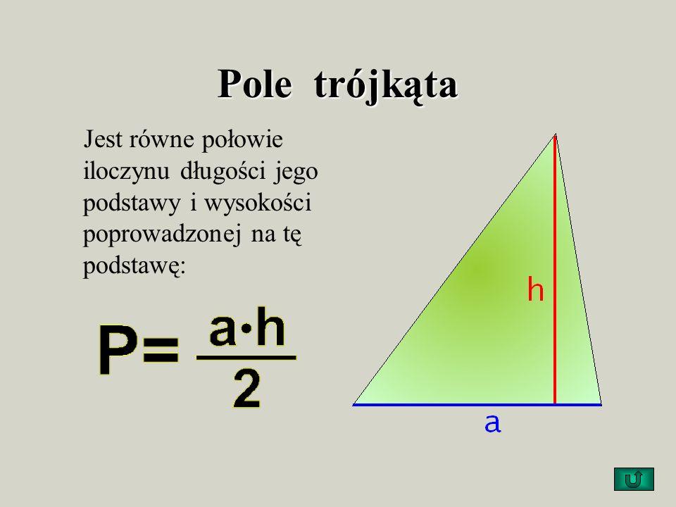 Poniższe rysunki przedstawiają graficznie, jak rozciąć trójkąt, aby z otrzymanych części ułożyć prostokąt. Długości boków otrzymanego prostokąta są ró