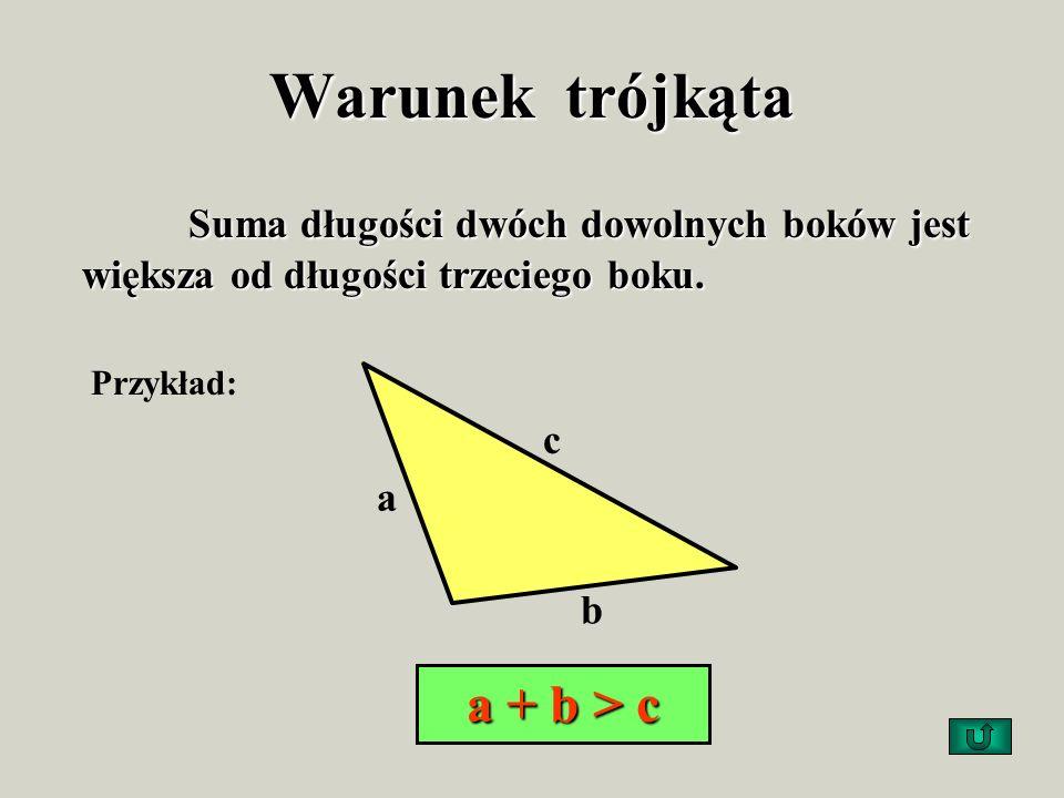 Pole trójkąta Jest równe połowie iloczynu długości jego podstawy i wysokości poprowadzonej na tę podstawę: