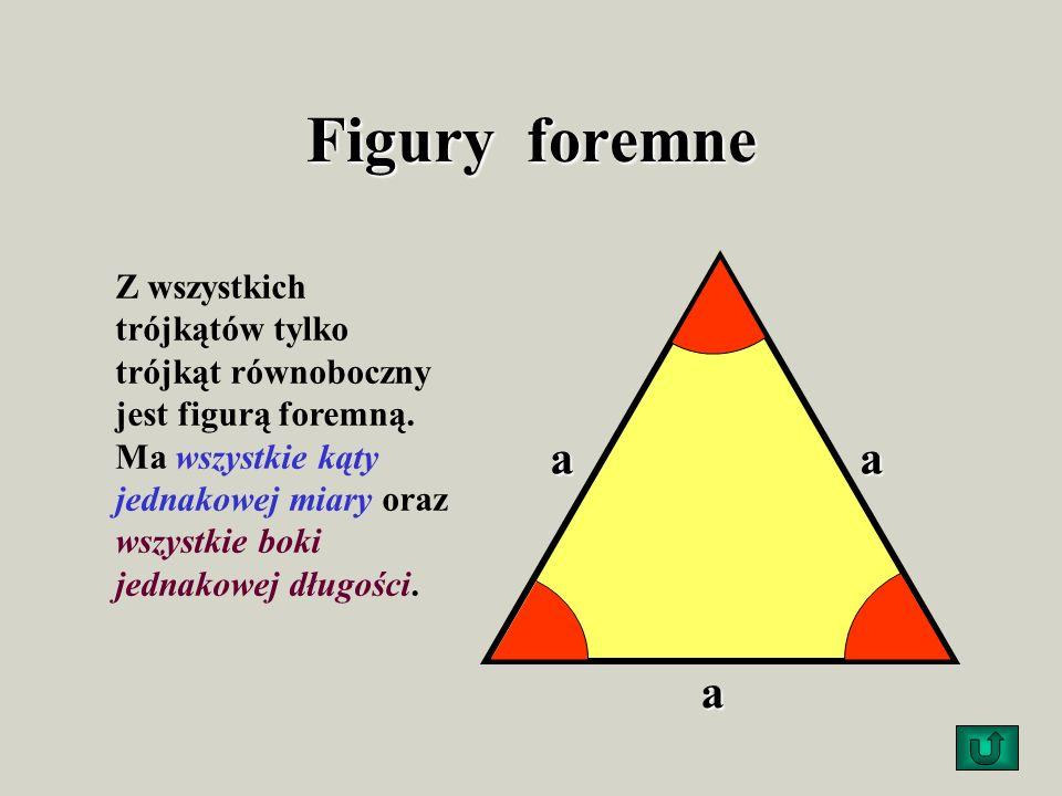 Warunek trójkąta Suma długości dwóch dowolnych boków jest większa od długości trzeciego boku. c a b Przykład: a + b > c