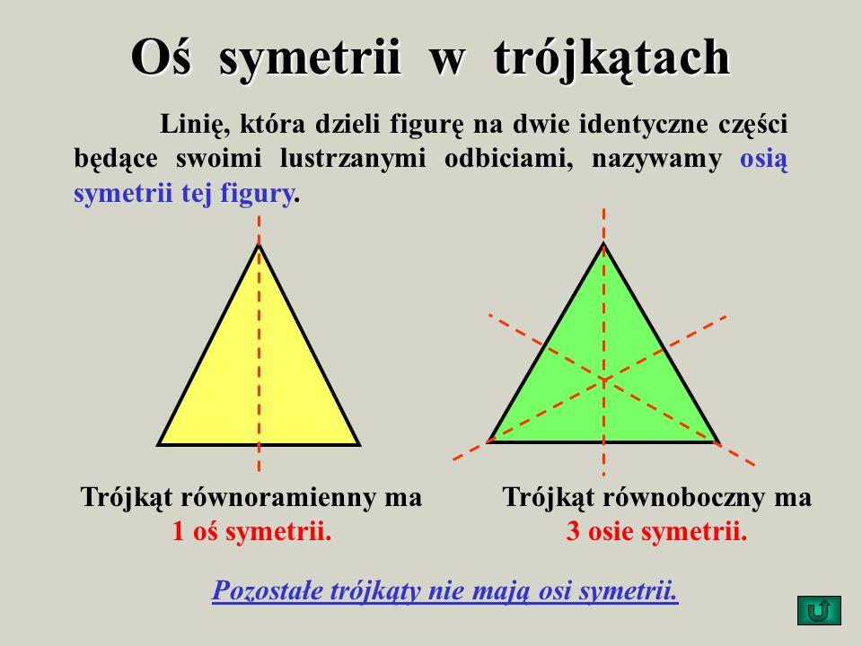 Figury foremne Z wszystkich trójkątów tylko trójkąt równoboczny jest figurą foremną. Ma wszystkie kąty jednakowej miary oraz wszystkie boki jednakowej