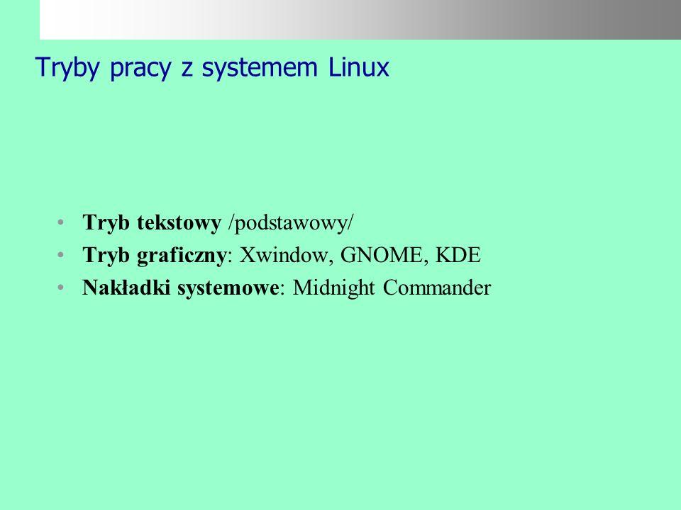 Budowa systemu Linux /opis katalogów/ cd. /proc - pseudosystem plików, odzwierciedlający stan procesów w systemie /root - katalog domowy użytkownika r