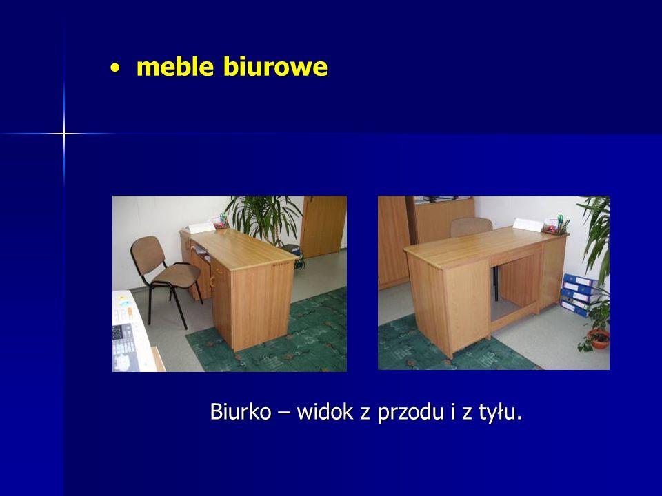 meble biurowe meble biurowe Biurko – widok z przodu i z tyłu.