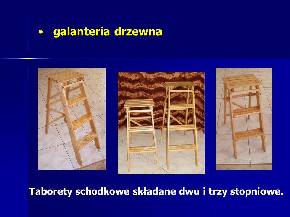 galanteria drzewna galanteria drzewna Taborety schodkowe składane dwu i trzy stopniowe.