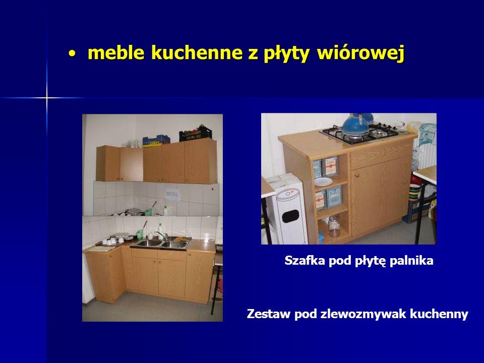 meble kuchenne z płyty wiórowej meble kuchenne z płyty wiórowej Zestaw pod zlewozmywak kuchenny Szafka pod płytę palnika