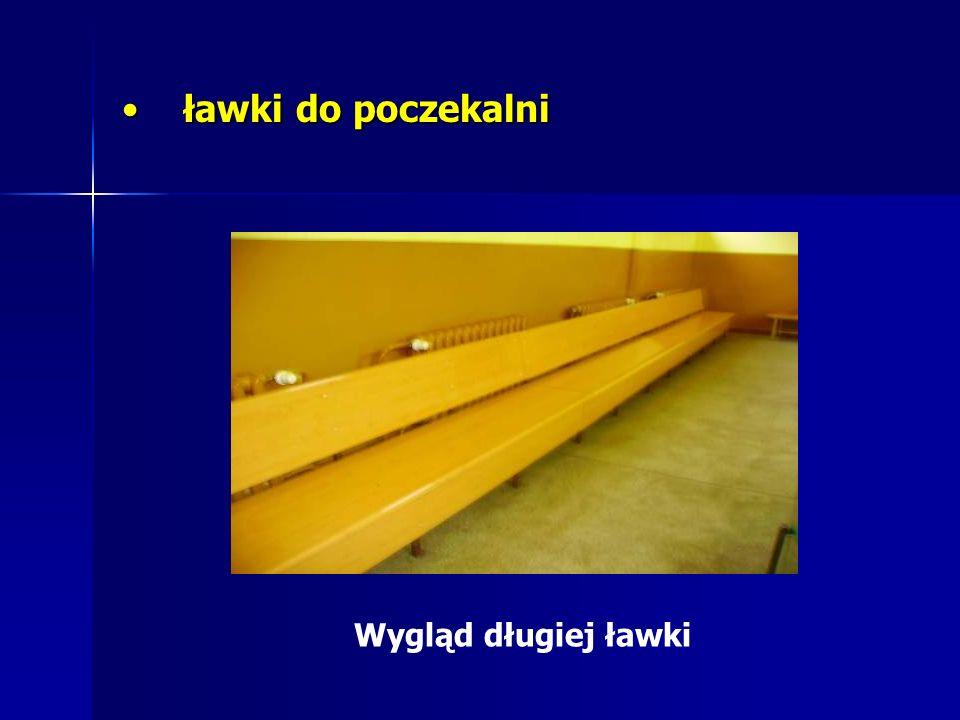 ławki do poczekalni ławki do poczekalni Wygląd długiej ławki