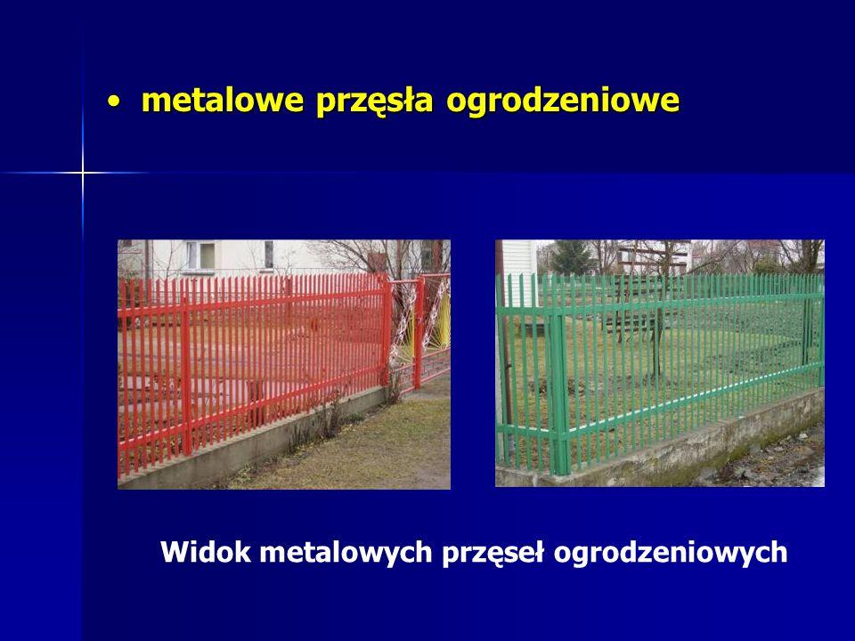 metalowe przęsła ogrodzeniowe metalowe przęsła ogrodzeniowe Widok metalowych przęseł ogrodzeniowych