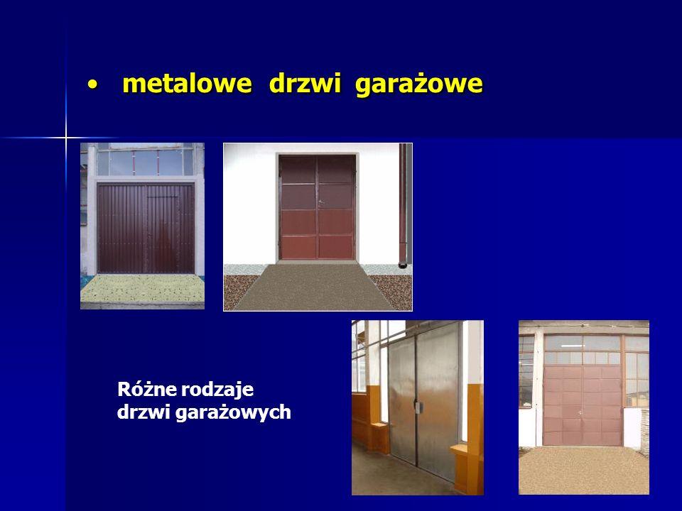 metalowe drzwi garażowe metalowe drzwi garażowe Różne rodzaje drzwi garażowych
