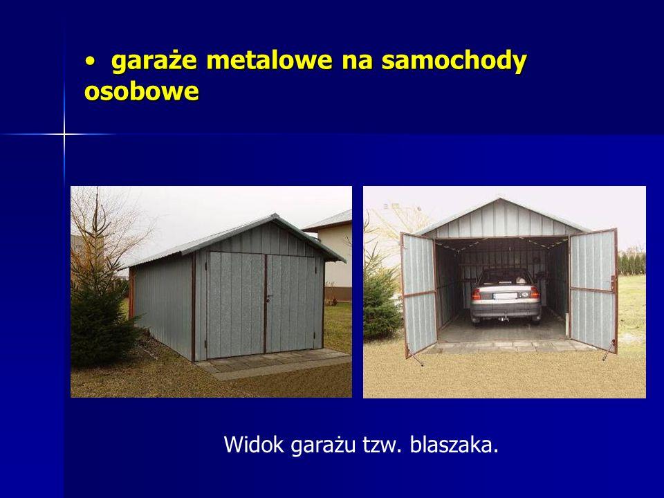 garaże metalowe na samochody osobowe garaże metalowe na samochody osobowe Widok garażu tzw. blaszaka.