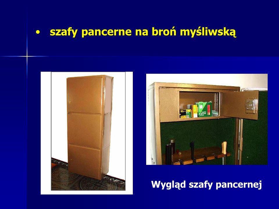 szafy pancerne na broń myśliwską szafy pancerne na broń myśliwską Wygląd szafy pancernej