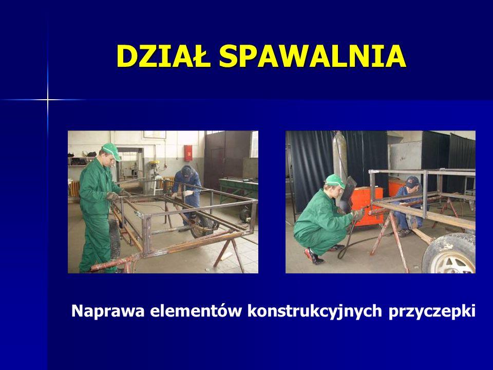 Naprawa elementów konstrukcyjnych przyczepki