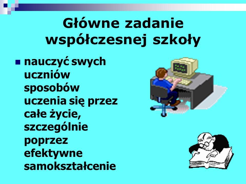 Bibliografia: Batorowska H., Kamińska-Czubała B.: Szkolne centrum informacji.