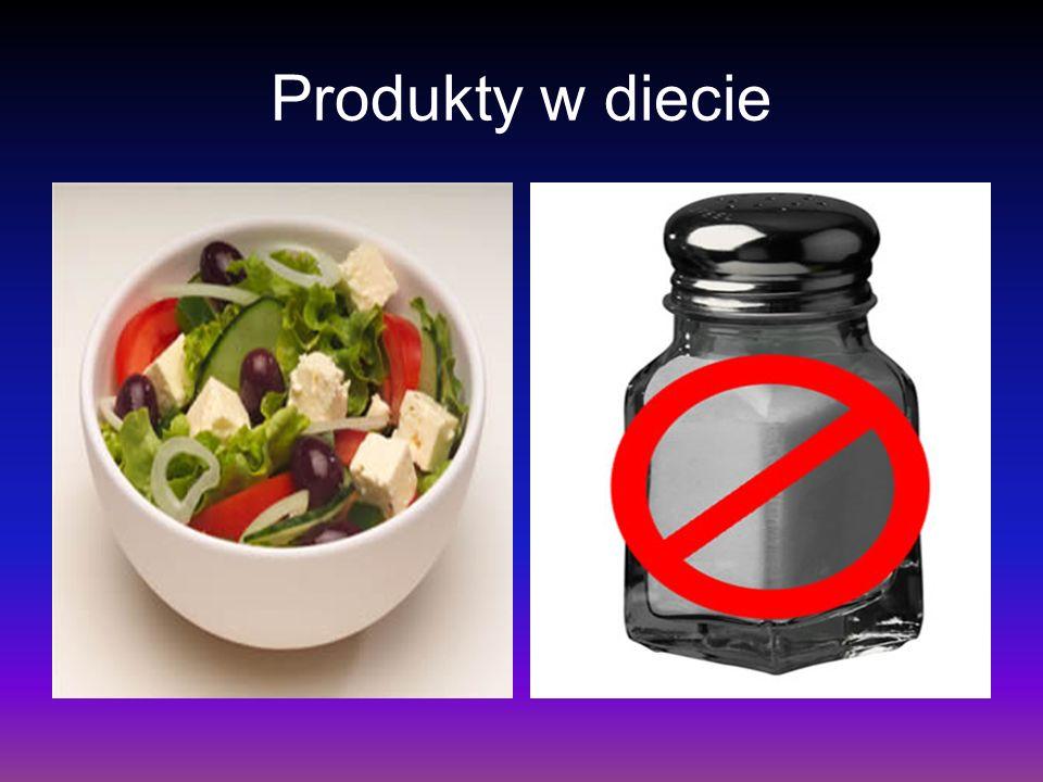 Produkty w diecie
