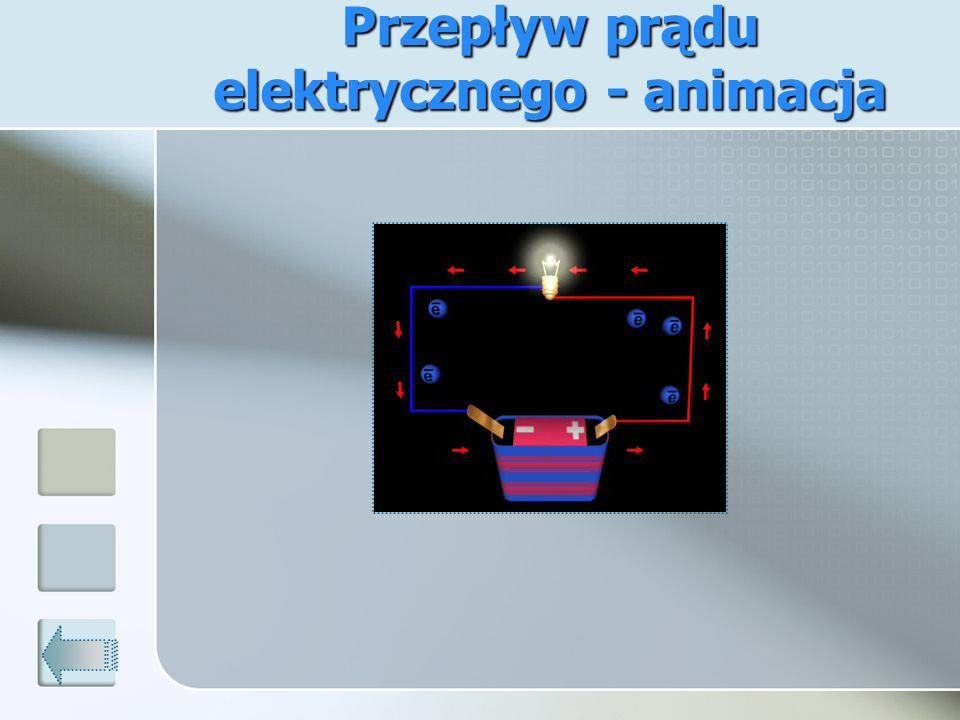 Przepływ prądu elektrycznego - animacja