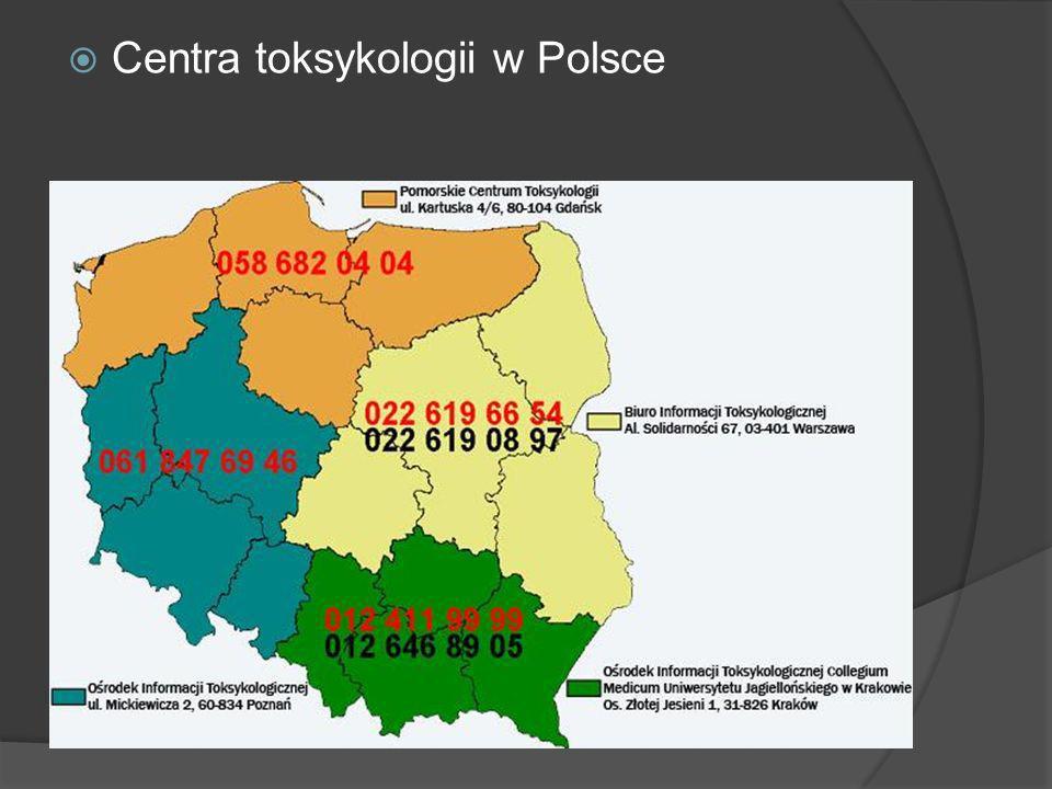 Centra toksykologii w Polsce