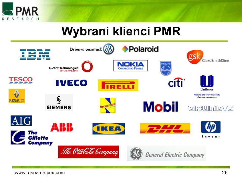 www.research-pmr.com26 Wybrani klienci PMR
