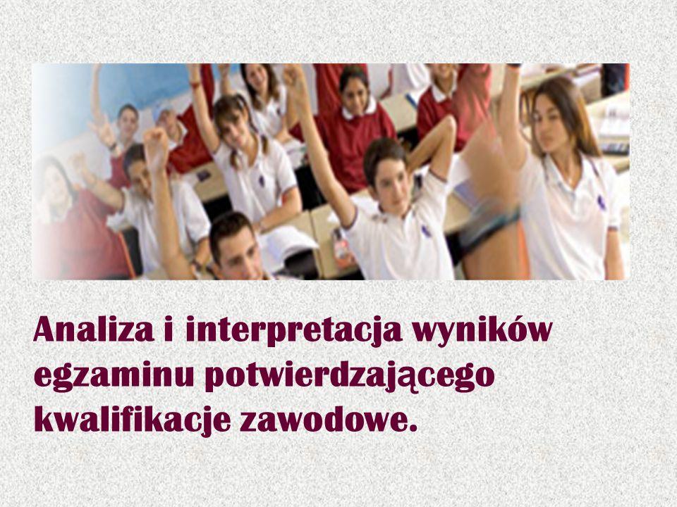 Analiza i interpretacja wyników egzaminu potwierdzaj ą cego kwalifikacje zawodowe.